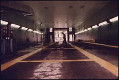 View of the Safety Lane in the Auto Emission Inspection Station at Norwood, Ohio...09/1975