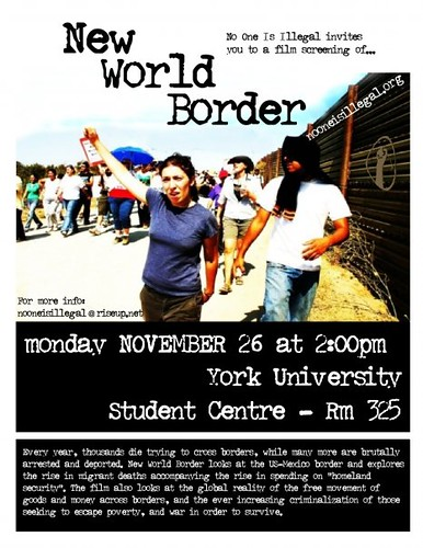 Poster c2008 New World Border Screening