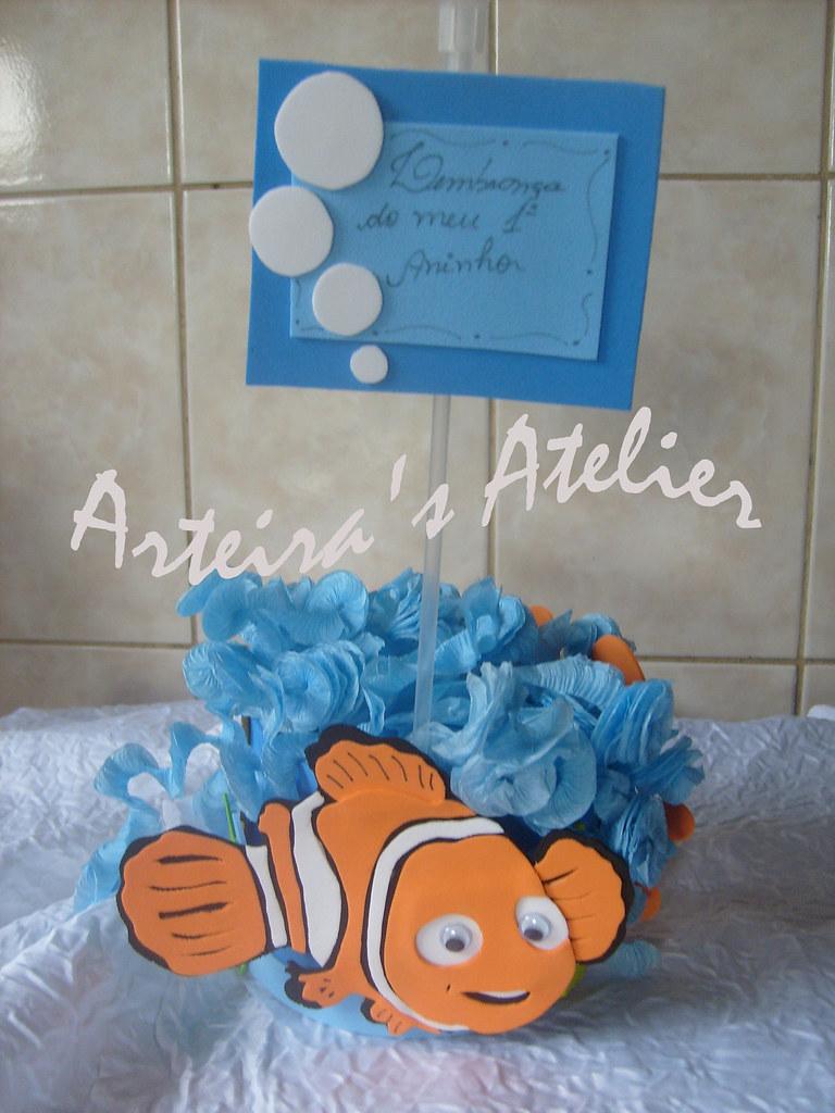 Lembranca de Centro de Mesa do Nemo