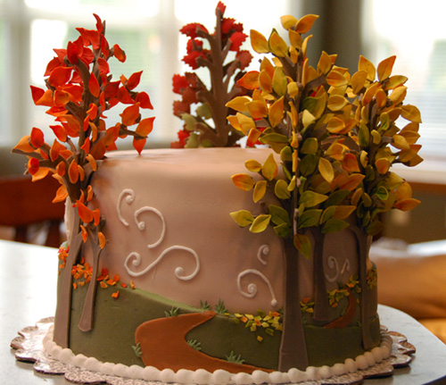Autumn cake flickr photo sharing for Autumn cake decoration