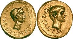 RRC 490/2 Julius Caesar Octavian Aureus
