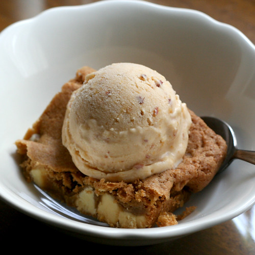 peach & ginger ice cream blondie | Flickr - Photo Sharing!