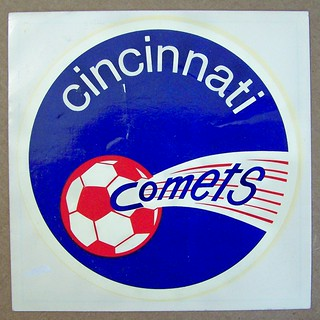 1972 CINCINNATI COMETS ASL soccer window decal