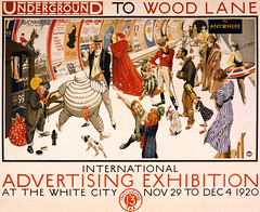Underground to Wood Lane to anywhere: International Advertising Exhibition at the White City, 1920