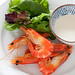 prawns with yoghurt mayo