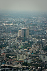 Photo from the observation platform of the Baiyoke II tower. Prince Palace Hotel
