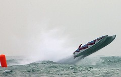 sailing(0.0), surfing--equipment and supplies(0.0), recreation(0.0), motorsport(0.0), jet ski(0.0), personal water craft(0.0), windsurfing(0.0), vehicle(1.0), sports(1.0), f1 powerboat racing(1.0), boating(1.0), motorboat(1.0), extreme sport(1.0), wave(1.0), water sport(1.0), watercraft(1.0), boat(1.0),