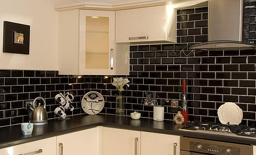 Kitchen tiles supplier based in barrow south cumbria Black and white wall tiles kitchen