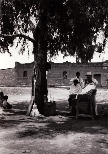 Peluqueria con paisaje, photograph by Lola Álvarez Bravo, 1950