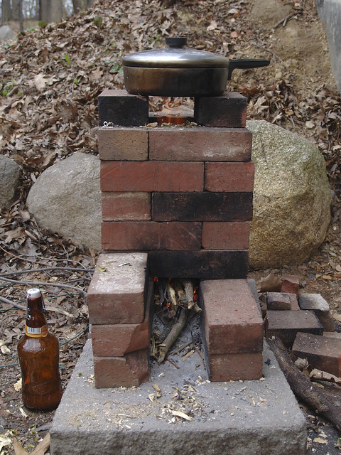 Scrap Brick Rocket Stove Flickr Photo Sharing