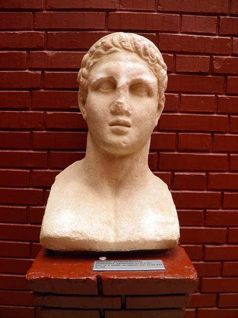 Bust of Hermes, late hellenistic (2nd - 1st century BC), Ephesus Museum, Selçuk, Turkey