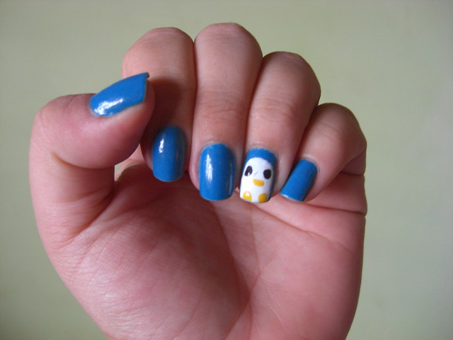 Nail art Kawaii peguin *--*