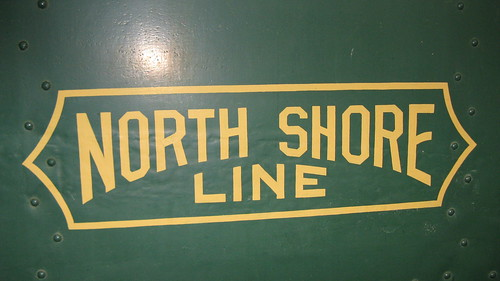 Chicago, North Shore & Milwaukee interurban railroad logo. The Illinois Railway Museum. Union Illinois. Friday, July 3rd 2009. by Eddie from Chicago