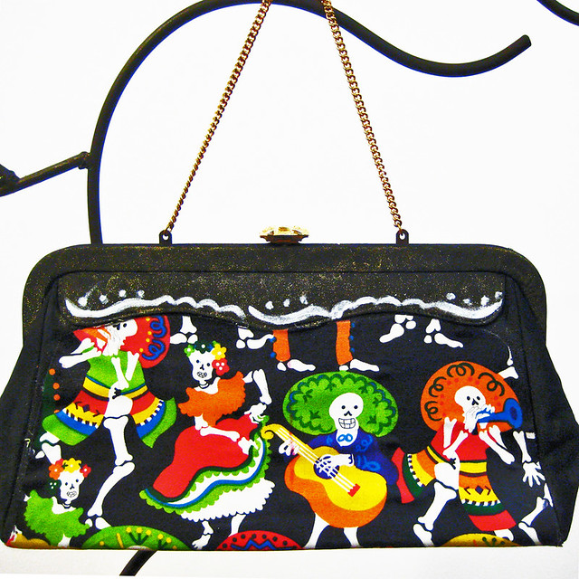 calavera party handbag
