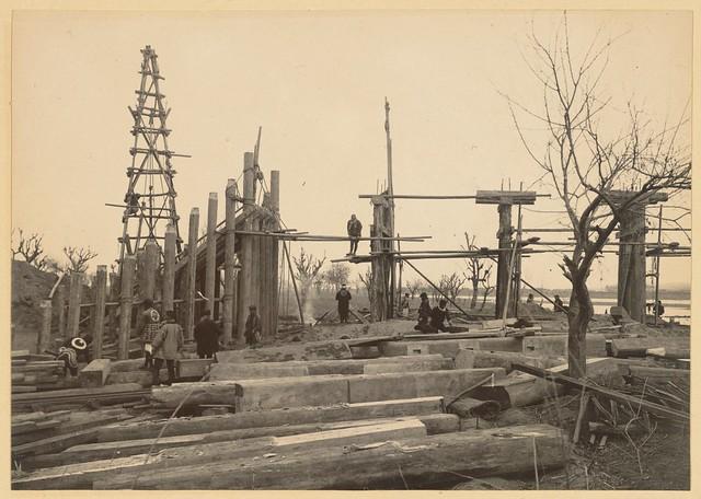 Steel Scaffolding Japan : Japanese bridge timber scaffolding for steel structure