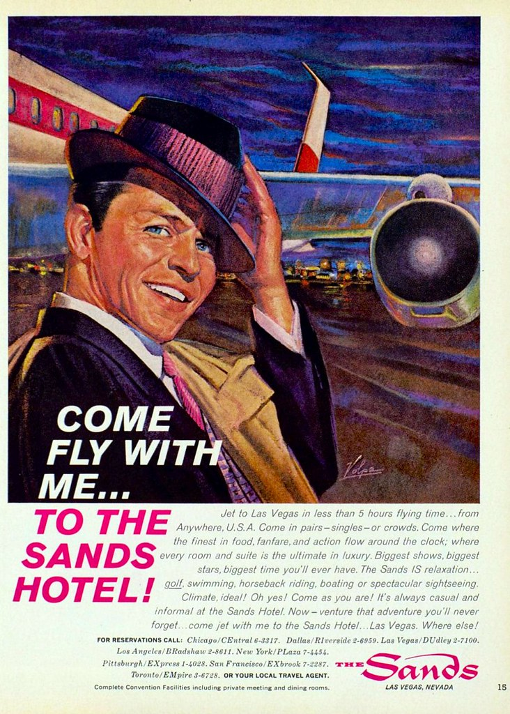 Sands Hotel and Casino featuring Frank Sinatra - 1961