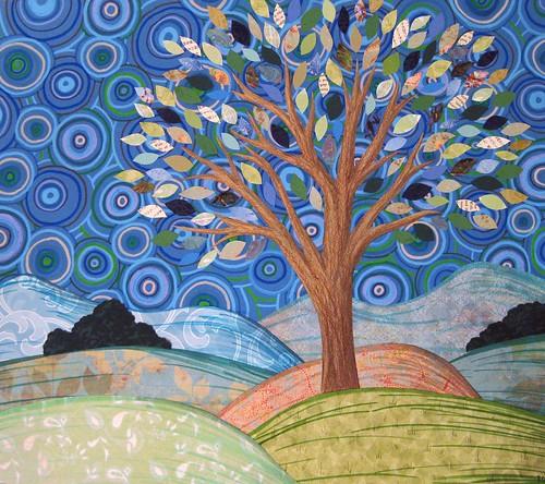 Blue Paper Tree