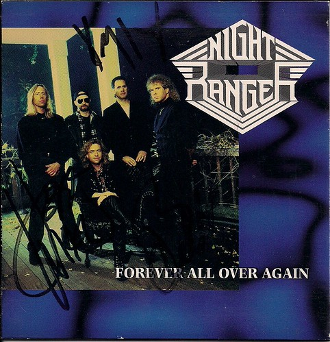 12/13/02 Night Ranger/Knight Crawler @ Maplewood, MN (CD Single Autographed by Jeff Watson, Kelly Keaggy and Brad Gillis)