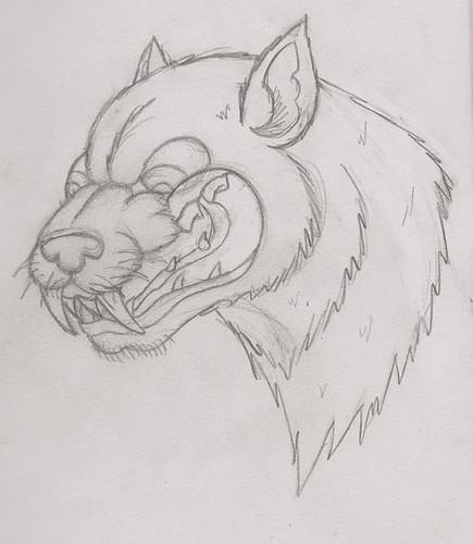 wolf tattoo design old school