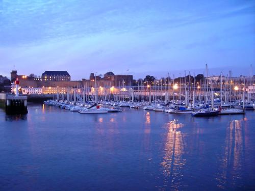 sunset barca tramonto porto brest sole bateau crépuscule francia coucherdusoleil finistere bretagna vele
