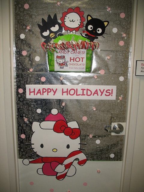 Office Christmas Door Decorating Contest http://www.ideasforchristmasdecorating.com/chpictures/preview/241/officedoorholidaydecorationcontestflickrphotosharing.html