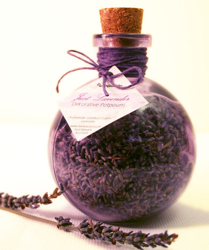 Organic Lavender Decorative Potpourri In A Recycled Purple Corked Jar  Eco Friendly And Natural Glamourous