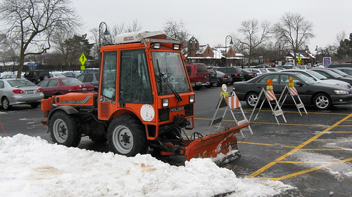 A small Holder snowplow tractor. Glenview Illinois. January 2010. by Eddie from Chicago