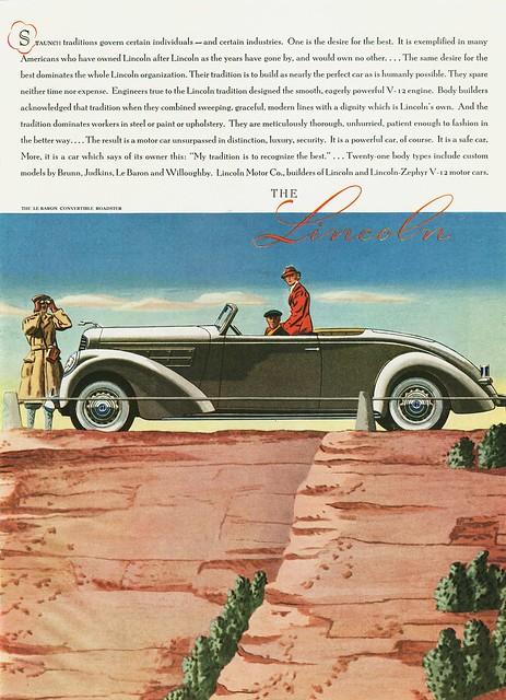 1937 Lincoln LeBaron Convertible Roadster