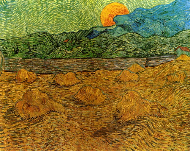 Vincent van Gogh: Evening Landscape with Rising Moon (1889)
