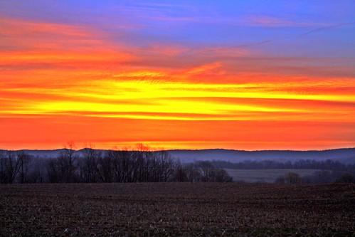 blue sky orange nature sunrise landscape palandscape palandscapes