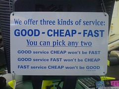 Service Design <good-cheap-fast> Way