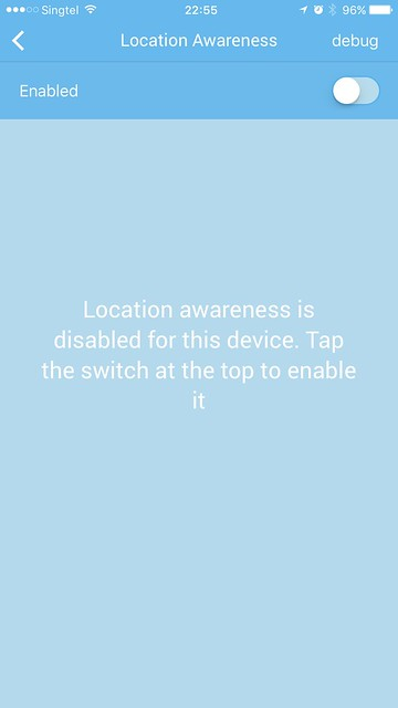 Sensibo iOS App - Location Awareness