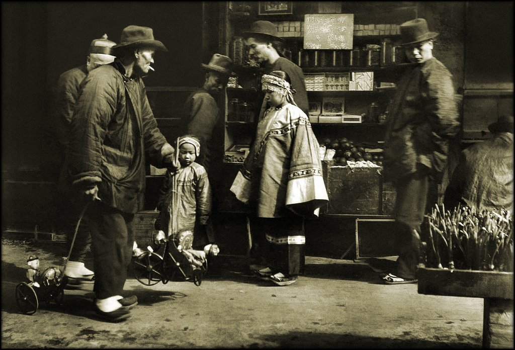 Toy Vendor, Chinatown, San Francisco [c1900s] Arnold Genthe [RESTORED]