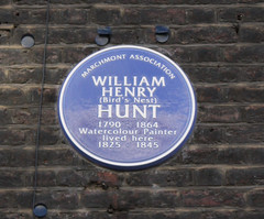 Photo of William Henry Hunt blue plaque