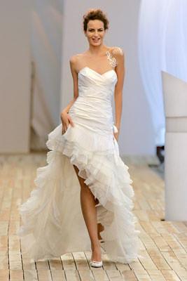 witte jurk voor kort achter lang