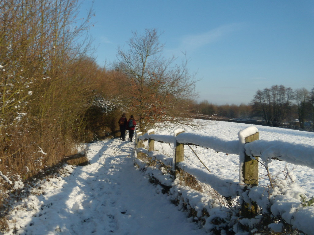 fence in the snow Hever to Leigh