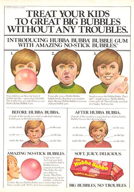 1979 Hubba Bubba Magazine Ad