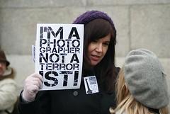 I'm a Photographer Not a Terrorist! Demo. Trafalgar Square, London 23rd January 2010