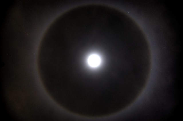 What Up With The Ring Around The Moon Tonight