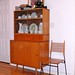 Planner Group 1515-L Cabinet, 1502 Deck, 1519 Bookcase and 1533 Shovel-seat Chair manufactured by Winchendon by Straylight.Wandering