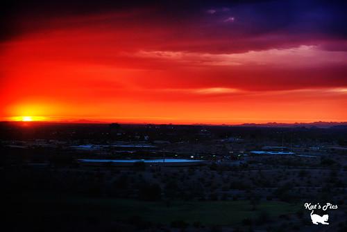 sunset arizona orange mountains phoenix landscape nikon kat cityscape papago katspics d3000