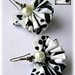 Pendientes Abanicos (Reto joyas textiles) by Yaicla