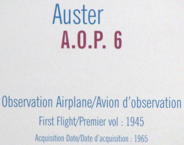 CASM 338 - Post WWII - American - Auster A.O.P. 6 - Observation - 1945