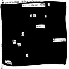 Unraveled - Blackout Poem #7