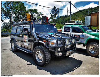 4x4 Borneo Safari 2009 - Hummer H2 from USA at Nabalu Lodge Kundasang