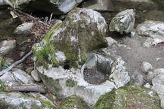 Corroded limestone rock