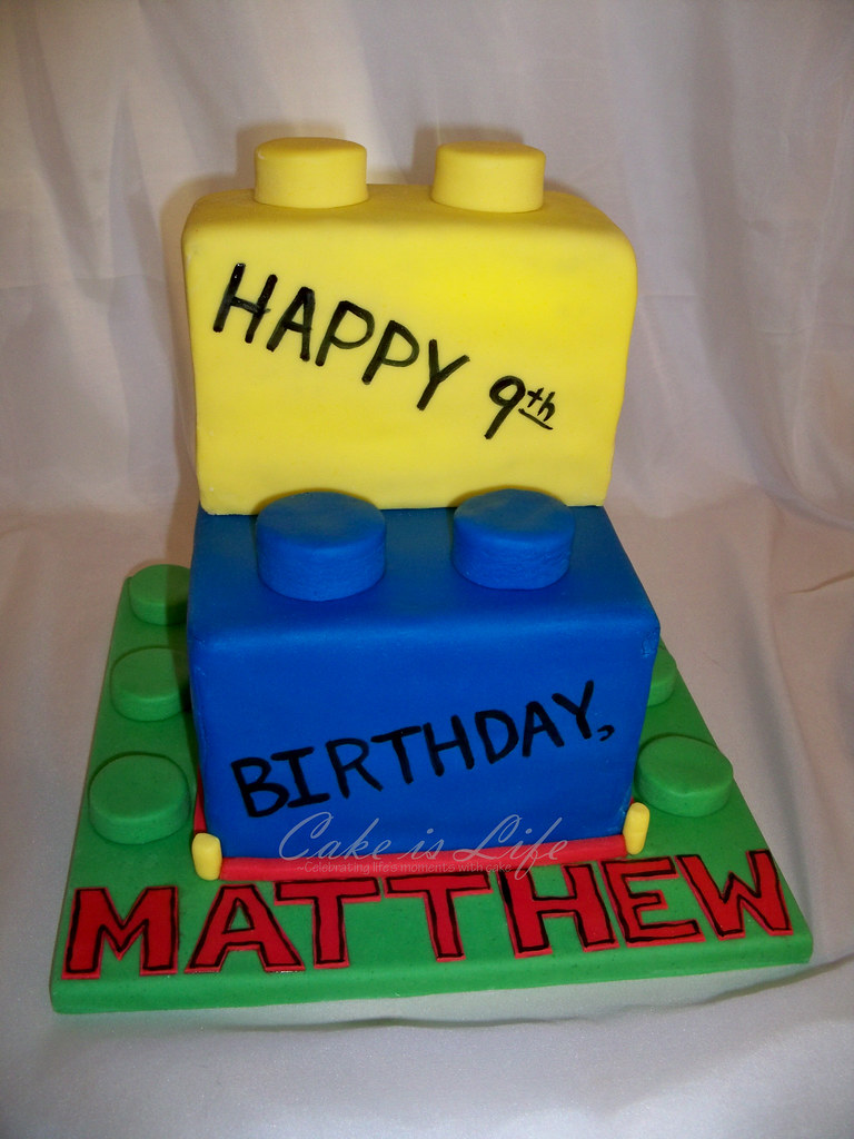 Fantastic Lego Birthday Cake 11 2009 This Lego Cake Was Milk Cook Flickr Funny Birthday Cards Online Sheoxdamsfinfo