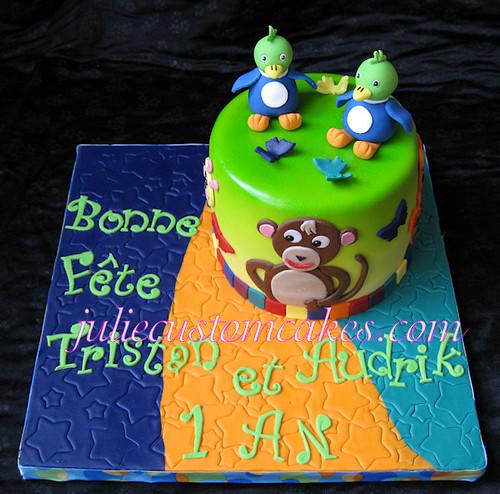 Baby Einstein theme cake