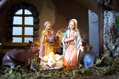 carving(0.0), christmas decoration(0.0), monument(0.0), decor(1.0), mythology(1.0), manger(1.0), christmas(1.0), nativity scene(1.0), statue(1.0),