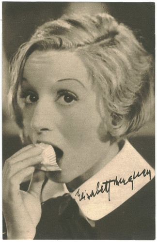 BERGNER, Elisabeth_Real Photogravure (Film Star Bijou Postcards Screen). Editorial Sign